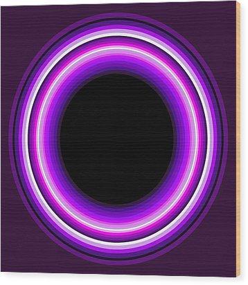 Circle Motif 144 Wood Print by John F Metcalf