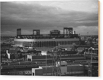 Citi Field - New York Mets Wood Print by Frank Romeo