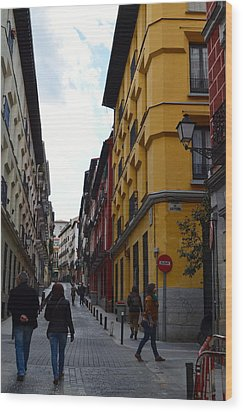 City Stroll Wood Print