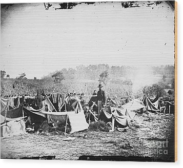 Civil War: Wounded, 1862 Wood Print by Granger