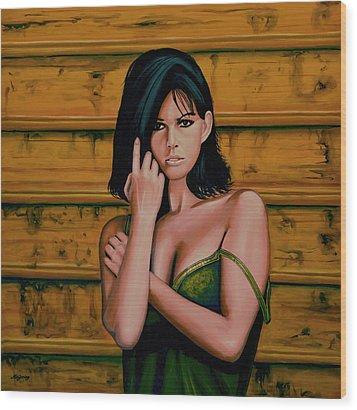 Claudia Cardinale Painting Wood Print by Paul Meijering