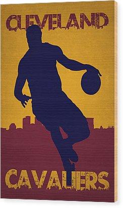 Cleveland Cavaliers Lebron James Wood Print