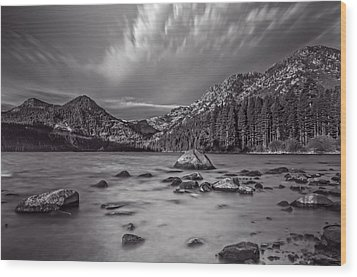Cloud Movement Over Emerald Bay Wood Print by Marc Crumpler