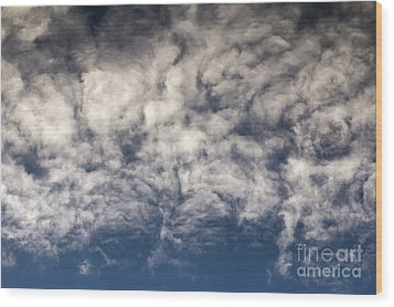 Clouds Wood Print by Michal Boubin