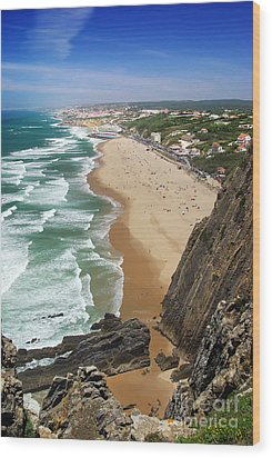Coastal Cliffs Wood Print by Carlos Caetano