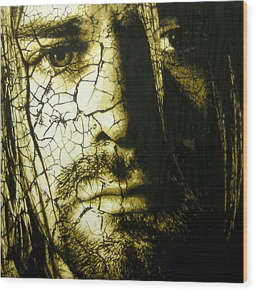 Cobain - You Know You're Right  Wood Print by Bobby Zeik
