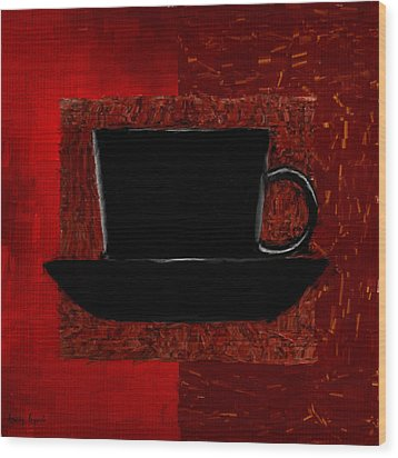 Coffee Passion Wood Print by Lourry Legarde