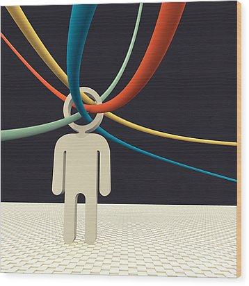 Cognition Wood Print by Igor Kislev