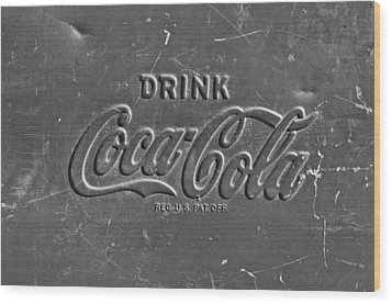 Coke Sign Wood Print by Jill Reger