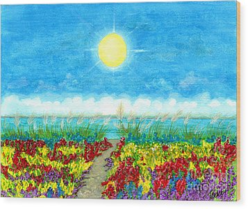 Color Path Wood Print by Tina Zachary