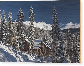 Colorado Mountain House Wood Print by Michael J Bauer