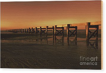 Wood Print featuring the photograph Colorful Pier by Maddalena McDonald