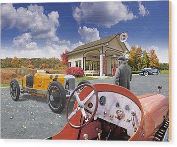 Colors Of Autumn Vintage Standard Oil Station Wood Print