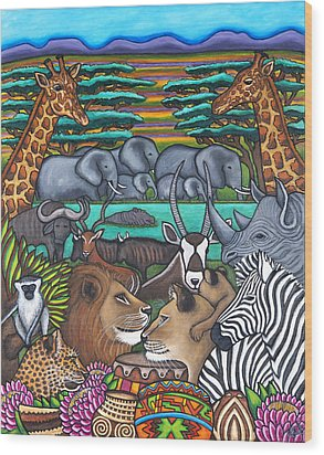 Colours Of Africa Wood Print