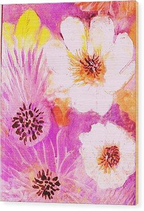 Come Spring Wood Print by Anne-Elizabeth Whiteway
