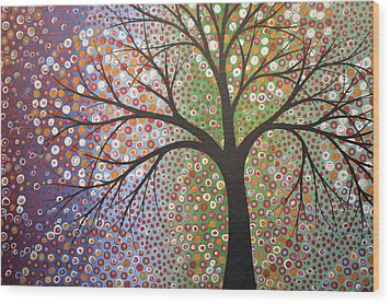 Wood Print featuring the painting Constellations by Amy Giacomelli