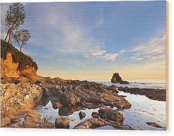 Corona Del Mar Beach Wood Print