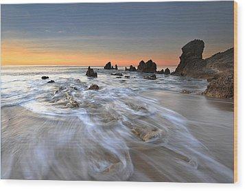 Corona Del Mar Sunrise Wood Print