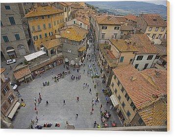 Cortona Piazza 2 Wood Print