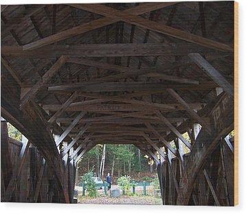 Covered Bridge Wood Print by Catherine Gagne