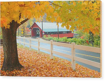 Wood Print featuring the photograph Creamery Bridge by Paul Miller