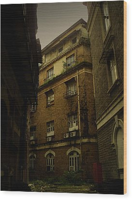 Wood Print featuring the photograph Crime Alley by Salman Ravish