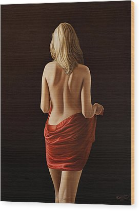 Crimson Wood Print by Horacio Cardozo