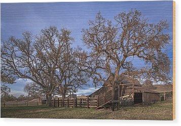 Cripple Creek Barn Wood Print by Tim Bryan