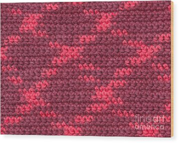 Crochet With Variegated Yarn Wood Print by Kerstin Ivarsson