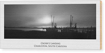 Crosby's Landing Wood Print