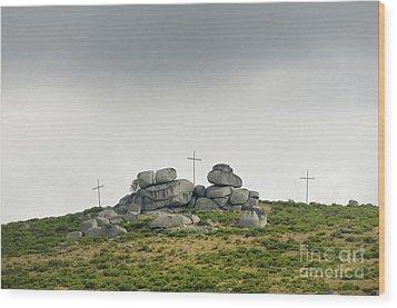 Cross Wood Print by Bernard Jaubert