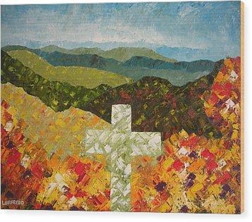 Cross Of The Colorful Ridges Wood Print by Ralph Loffredo