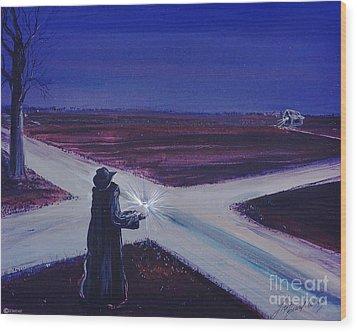 Crossroads Wood Print