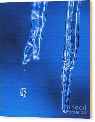 Crystal Blue Wood Print by Mitch Shindelbower