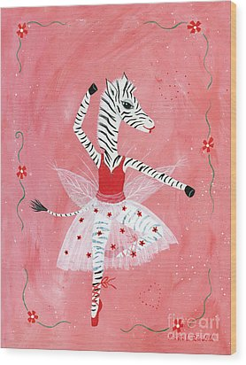 Custom Child's Zebra Ballerina Wood Print by Kristi L Randall