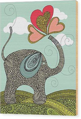 Cute Elephant Wood Print