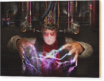 Cyberpunk - Mad Skills Wood Print by Mike Savad