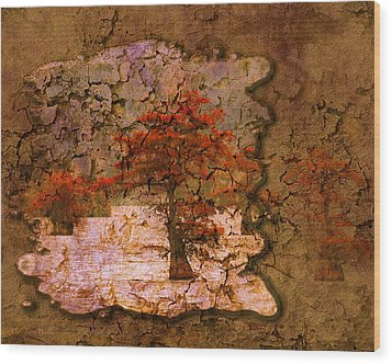 Cypress - Abstract Wood Print by J Larry Walker