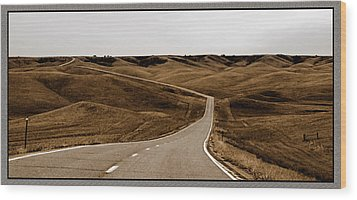 Wood Print featuring the photograph Dakota Highway 1804 by Thomas Bomstad