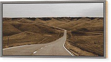 Dakota Highway 1804 Wood Print