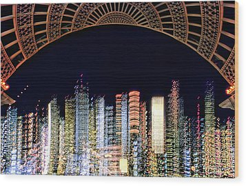 Wood Print featuring the photograph Dallas At Night by David Perry Lawrence