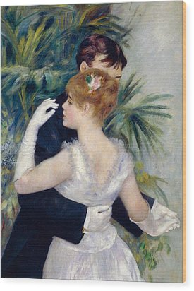 Dance In The City Wood Print by Pierre-Auguste Renoir
