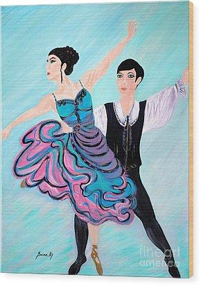Dance. Inspirations Collection. Wood Print by Oksana Semenchenko