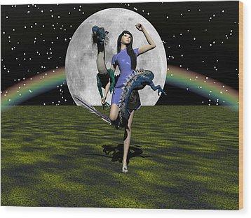 Dance Partners Wood Print by Michele Wilson