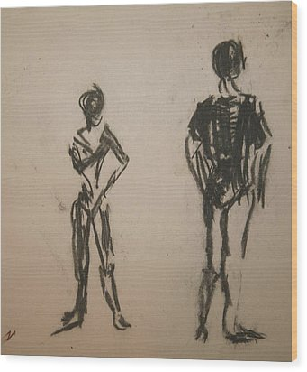 Dancing  Wood Print by Elena Svobodina
