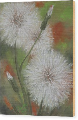 Dandelion Dance Wood Print