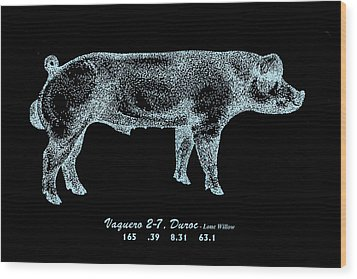 Danish Duroc Wood Print by Larry Campbell