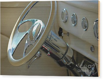Wood Print featuring the photograph Dashboard Glam by Christiane Hellner-OBrien