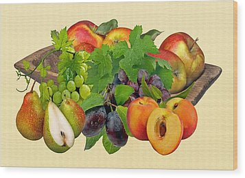 Day Fruits Wood Print