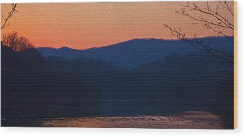 Days End Wood Print by Tom Culver